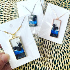 Blue Line Mickey Necklace