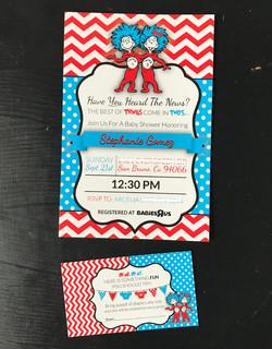 Dr Seuss Baby Shower Invitation