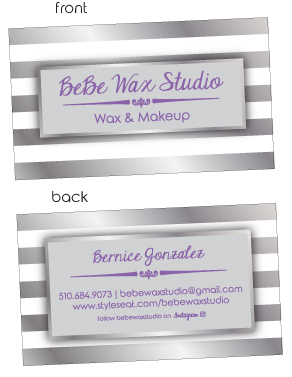 Bebe Wax Business Card