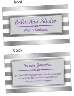 Bebe Wax Business Card