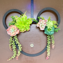 Succulent Mickey Wreath