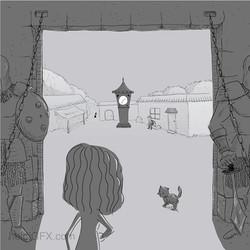 Inktober Day 14 Clock - Storyboarding