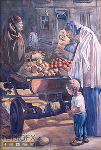 """""""The Market"""" Oil Painting by heidiGFX"""