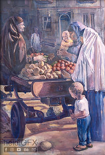"""The Market"" Oil Painting by heidiGFX"