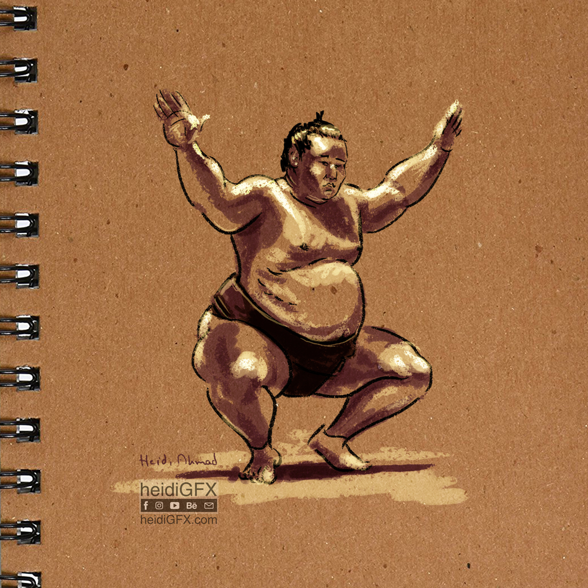 Sumo Digital Painting by heidiGFX