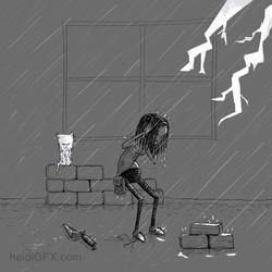 Inktober Day 27 Thunder - Visual Storyte
