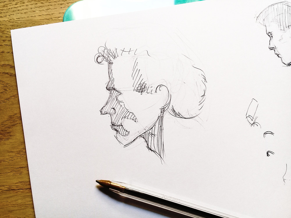 flex your artistic skills with some pen sketches