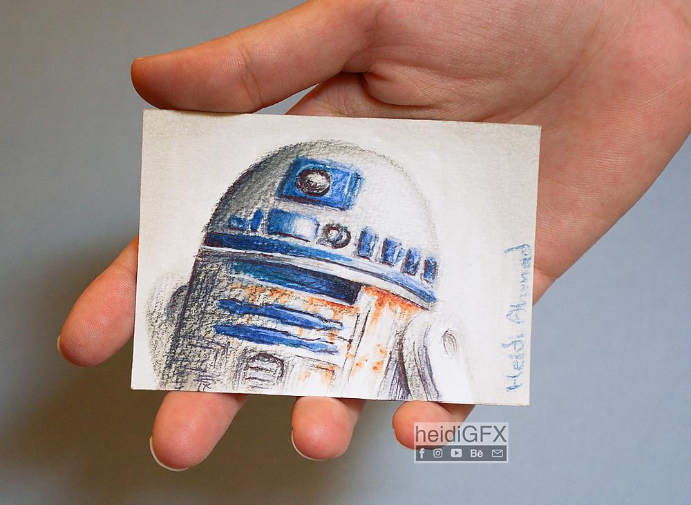 R2D2 droid fan art star wars