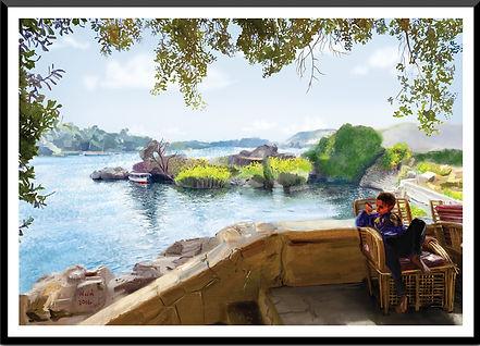 aswan digital painting