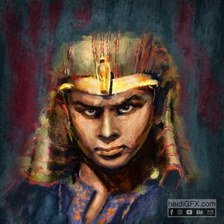 Painterly Digital Portrait yul brynner a