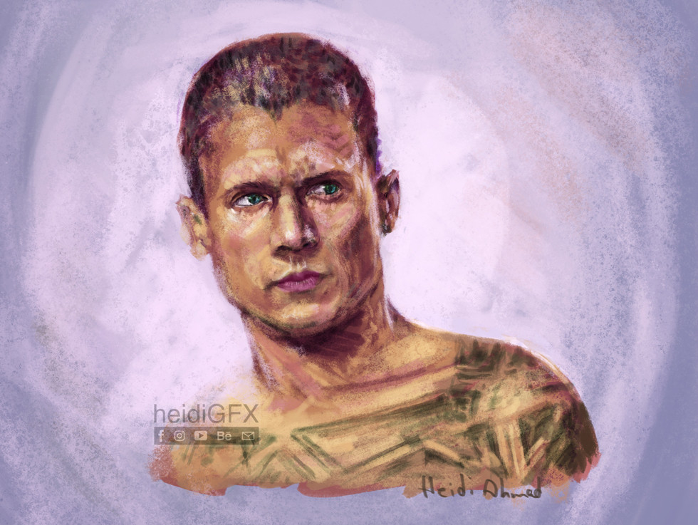 digital portrait of Michael Scofield - Prison Break