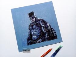 Traditional drawing of Batman