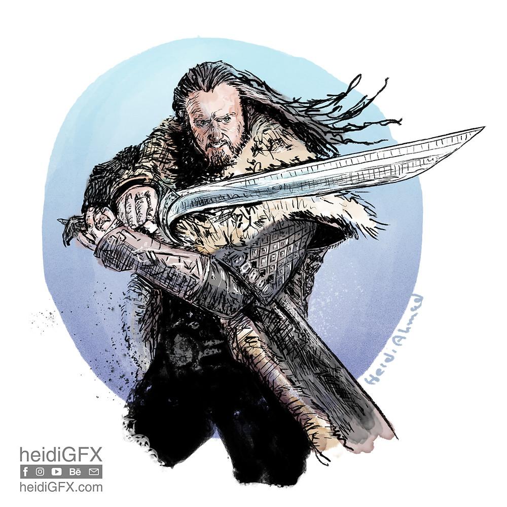 Inktober 2017 Day 6 - Sword