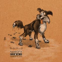 Dog Digital Painting by heidiGFX