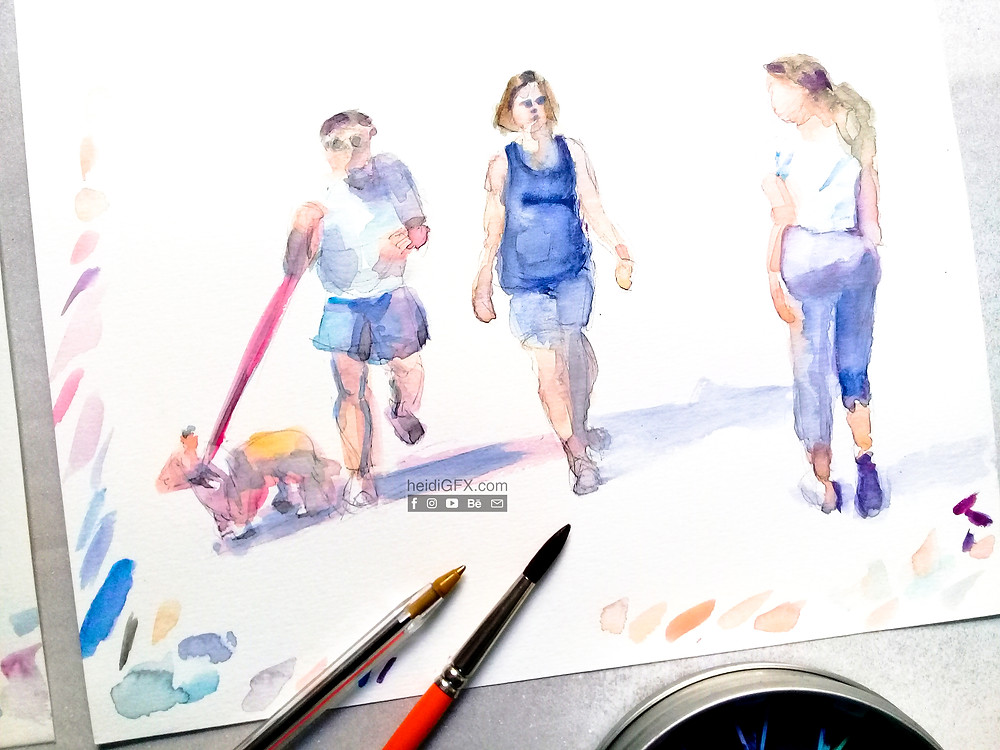 water color painting figures