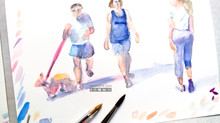 Why use water colors to improve your drawing skills?
