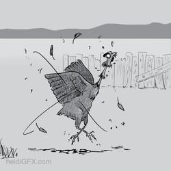 Inktober 2018 Day 5 Chicken - Storyboard