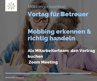 Vortrag Betreuer bei Mobbing