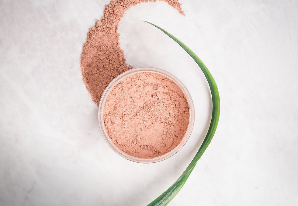 Pink Clay Mask - Dry with leaf.JPG
