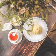 紅茶とモンブラン
