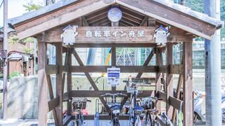 08:30|舟屋の自転車置き場へ駐輪