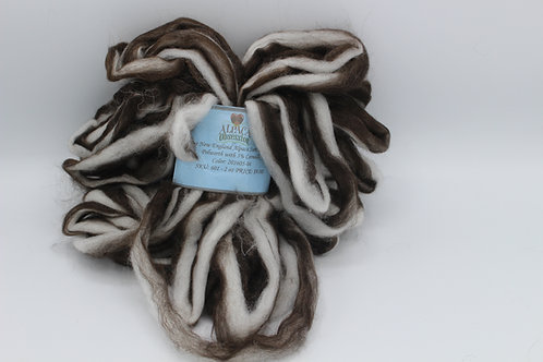 2 oz Black & White Alpaca Roving