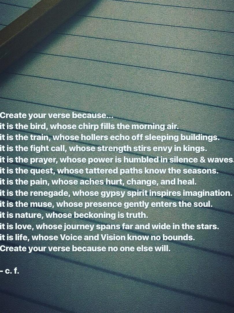 Create Your Verse
