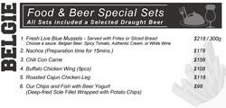 Food & Beer Special Set