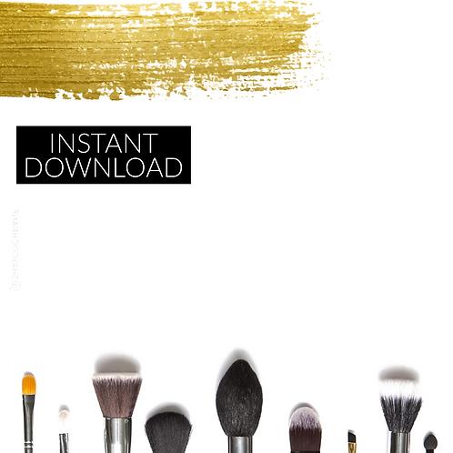 Gold Makeup Template