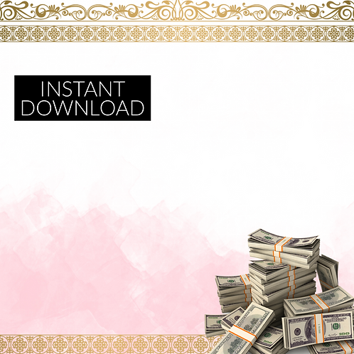 Pink and Gold Money Template