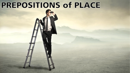 prepositions of place, grammar, prepositions
