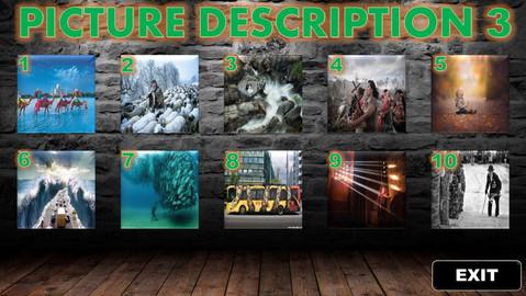 guided description, pictures, writing, desciption