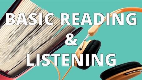 basic english reading and listening practice, esl, efl