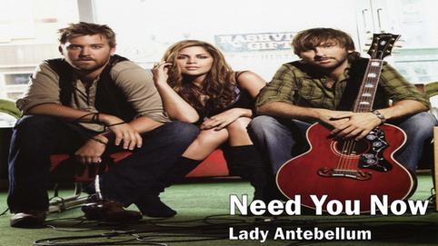 lady antebellum, need you now