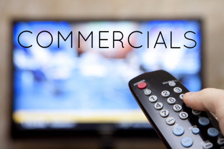commercials, speaking, writing, stories