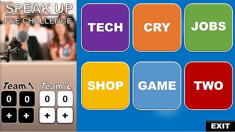 ESL speaking game, FCE challenge