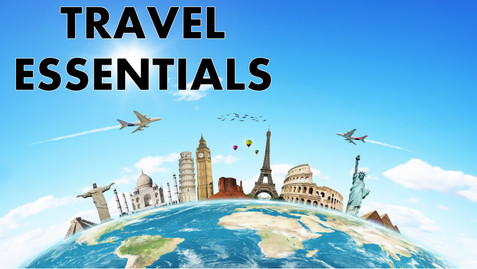 travel essentials, travel, essentials