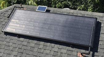solar water heating collector