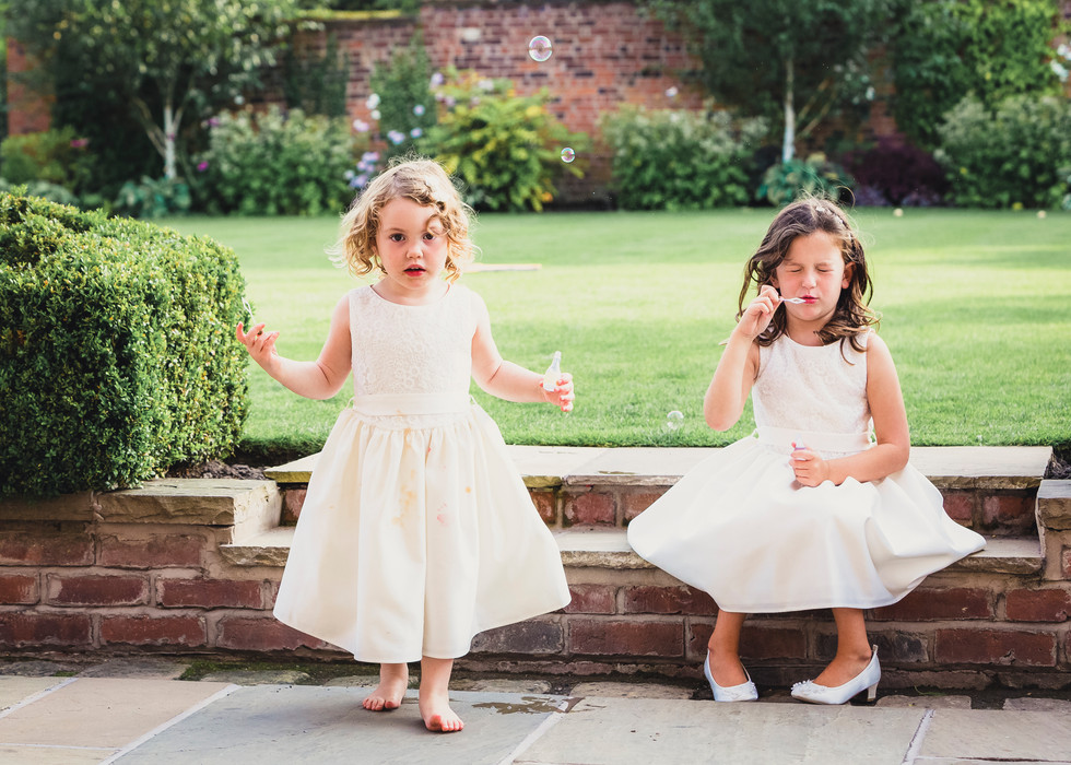Flower Girls at a Wedding