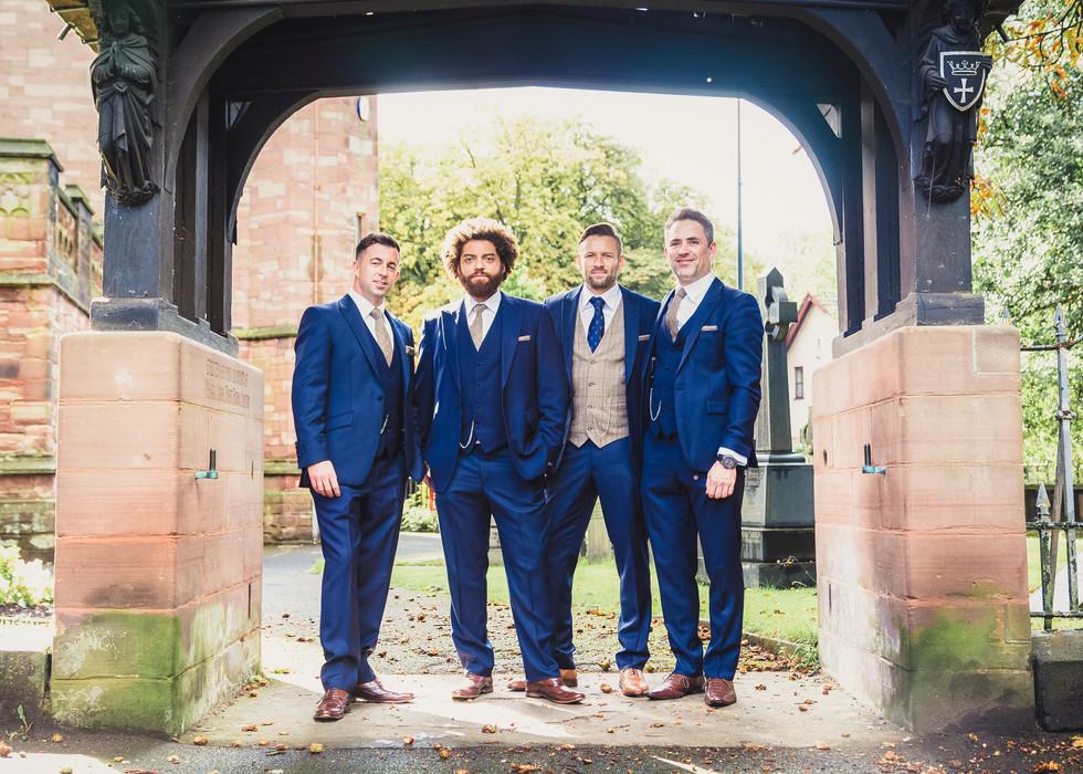 Groomsmen at a Chuch Wedding Yorkshire