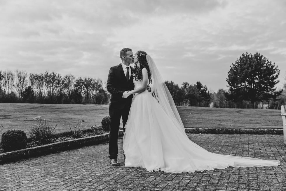 Bride and Groom Wedding Statement Photo Stratford Park
