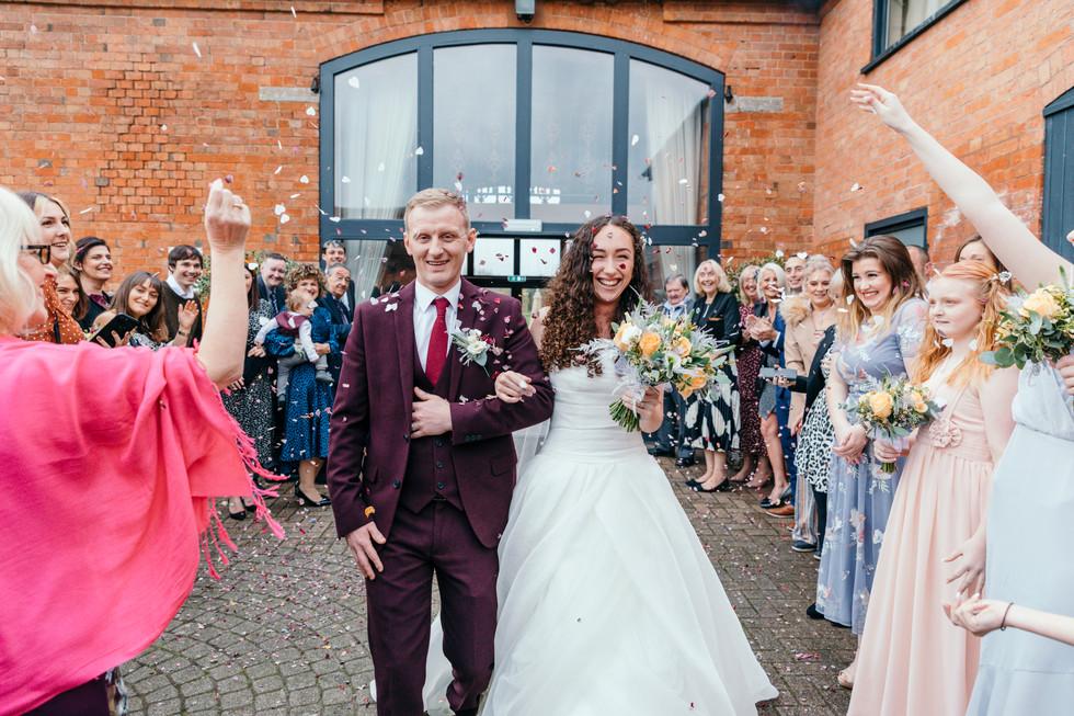 Confetti at Stratford Park Hotel Wedding