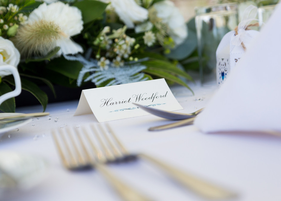 Table Settings at Cheshire Wedding,