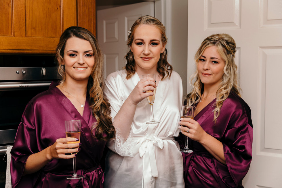 Bridal Party preparations in Cheshire