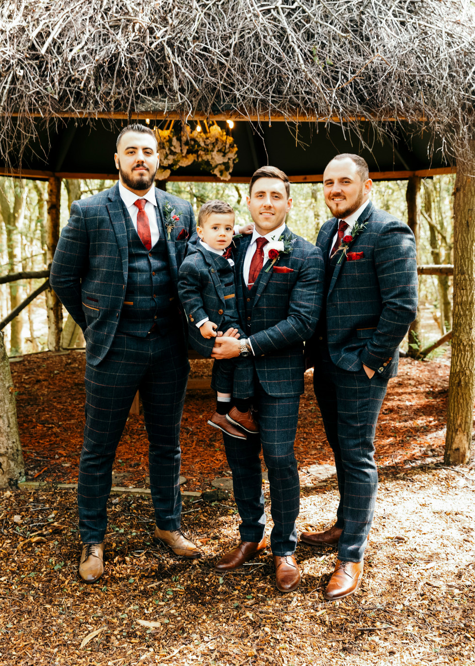 Grooms party dressed to impress before the wedding