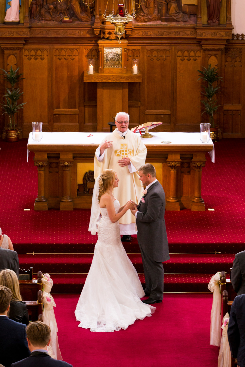 Bride and Groom Church Wedding Christa Emily Photography