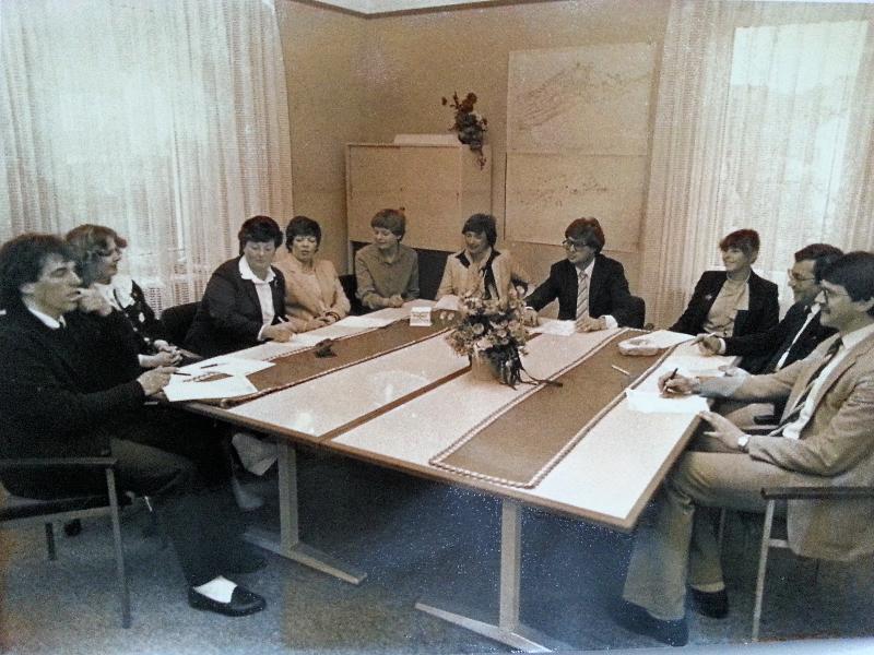 Mitarbeiterkonferenz in den 70ern
