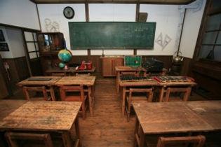 昭和の教室の風景の写真
