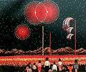 諏訪湖の花火のちぎり絵