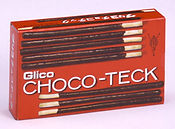 昭和41年にテスト販売された「チョコテック」。ポッキーの前身